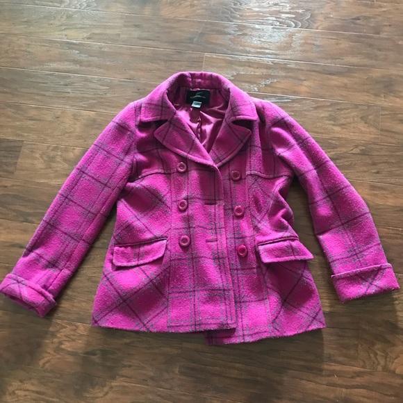 Moda International Jackets & Blazers - Purple wool coat bought from Victoria secret